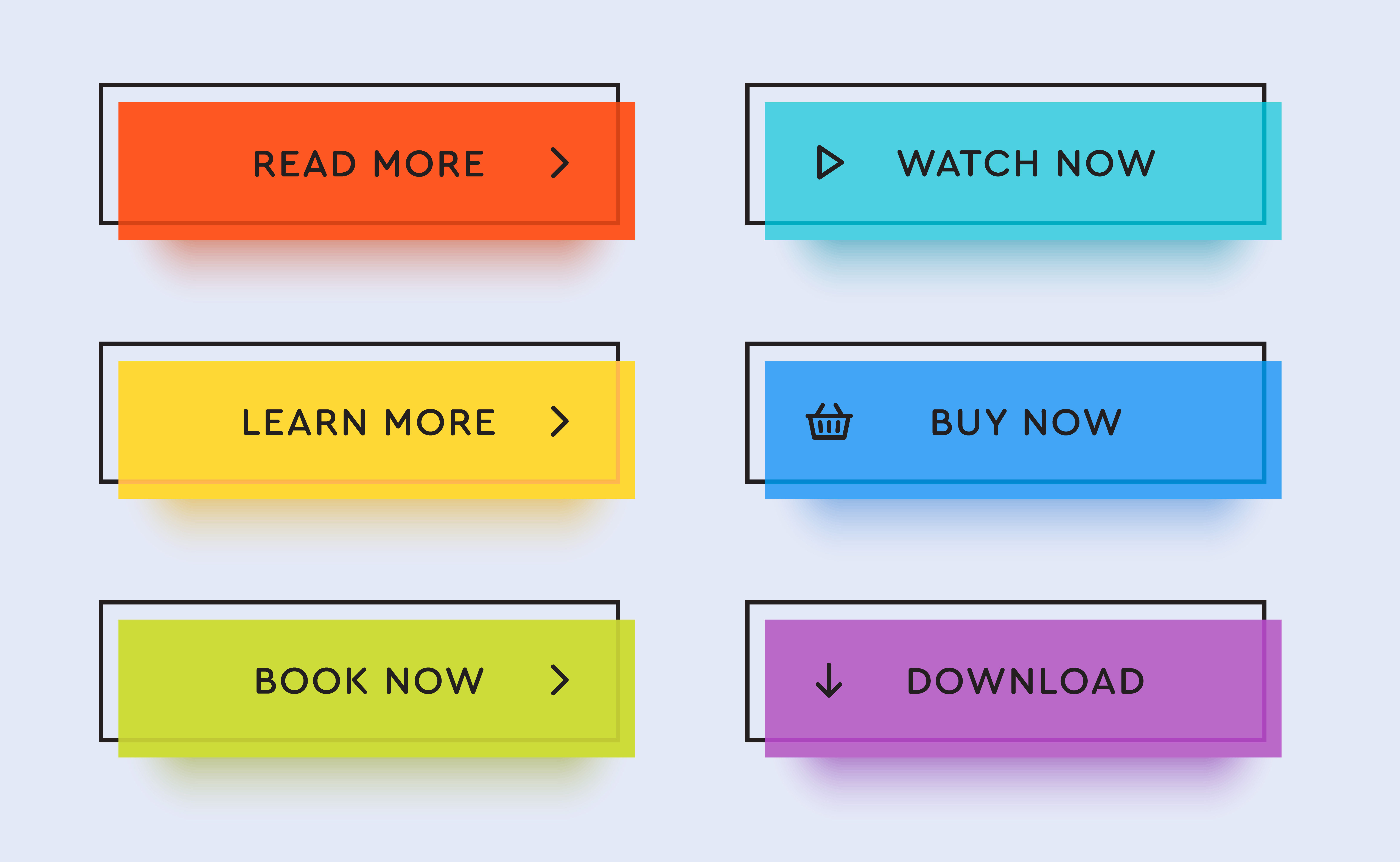 Example CTA buttons for lead generation and conversion