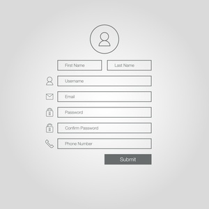 Example form for inbound marketing landing page