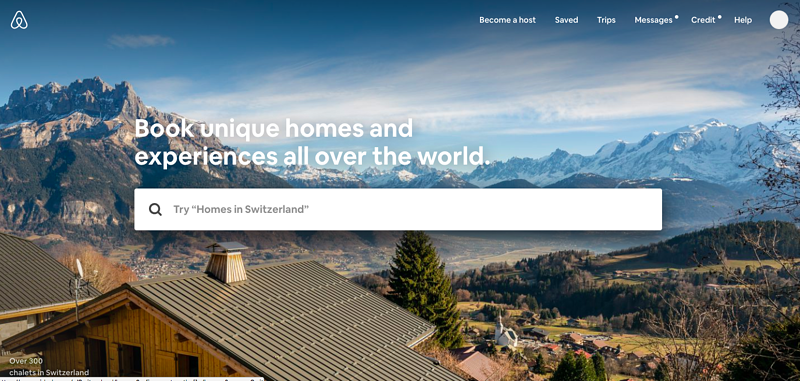 airbnb is a great example of a website optimized well for UX.