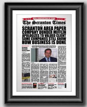 Dundler-mifflin-paper-headline-after-pr-crisis-averted