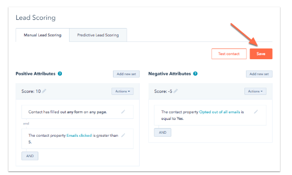 lead scoring in hubspot