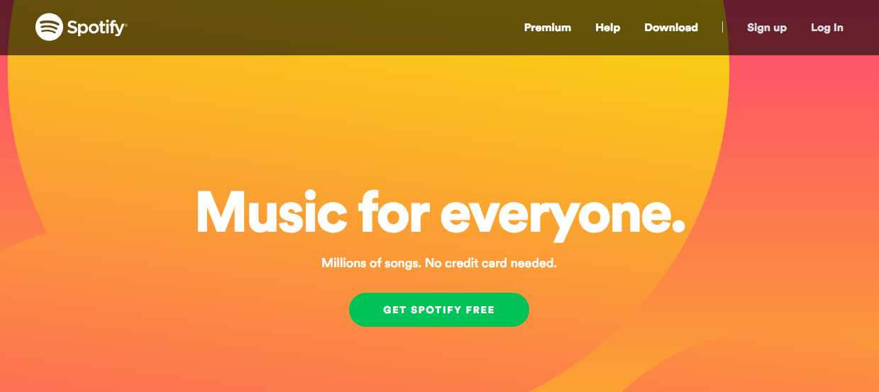 spotify-homepage-conversion-examples