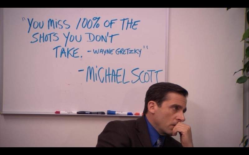 The Office 60 Marketing Lessons You Might Have Missed Interesting Michael Scott Wayne Gretzky Quote