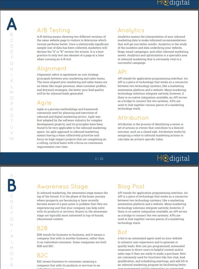 ultimate glossary of inbound marketing terms hqdigital
